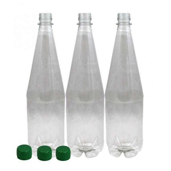 Lemonade bottles with screw caps, 1 litre