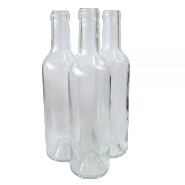 Clear Wine Bottles 37.5cl
