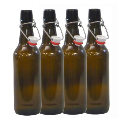 Amber Swing Top Bottles 500ml