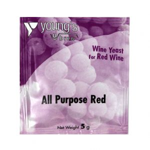 Youngs All Purpose Red Wine Yeast Sachet